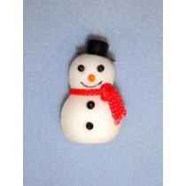 """l1 1_2"""" Flocked Snowman"""