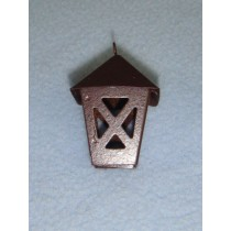 "1 1_2"" Miniature Rusted Tin Lantern"