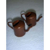 "1 1_4"" Miniature Rusted Tin Watering Cans"