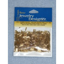 """1_4"""" Glass Silver Lined Bugle Beads - Gold - 6 gram"""