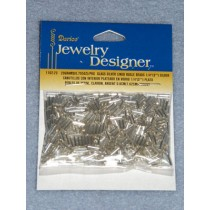 """1_4"""" Glass Silver Lined Bugle Beads - Silver - 6 gram"""