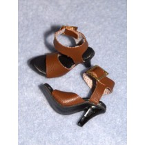 "1 5_8"" Brown Dazzling High Heel Shoes"
