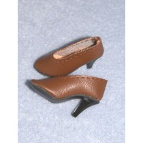 "1 5_8"" Brown Luvable High Heel Shoes"