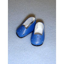 "1"" Blue Plain Loafers"