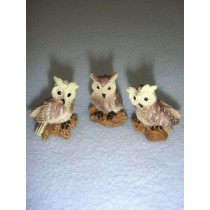 "1"" Miniature Owls"