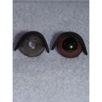 20mm Black Eyelids pair - Pkg_5