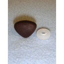 20mm Dark Brown Soft Triangle Noses - Pkg_25