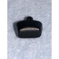 Nose - Soft Leather-Look Oval - 20mm Black Pkg_20