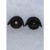 22mm Black Eyelids - Pkg_5 pair