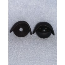 22mm Black Eyelids -pair  Pkg_25