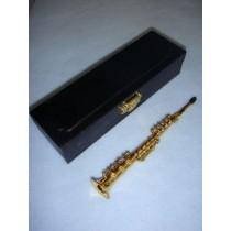 """ Instrument - Soprano Saxaphone - 5 1_2"""" Brass"""