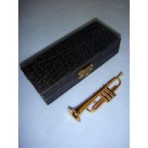 """ Instrument - Smaller Trumpet - 4"""" Brass"""