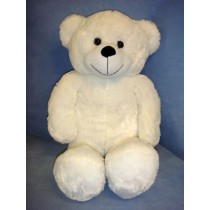 "24"" Plush Sitting White Bear"