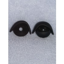24mm Black Eyelids -pair Pkg_25