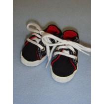 """2 1_2"""" Black Sneakers"""
