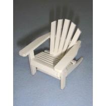 "l2 1_2"" Miniature White Adirondack Chair"