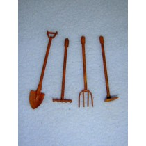"2 1_4"" Miniature Rusted Garden Tools"
