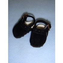 "2 1_8"" Black Suede Clogs"