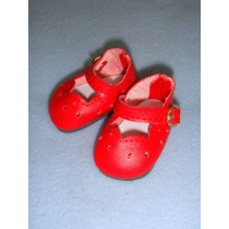 """2 1_8"""" Red Girls Dress Shoes"""