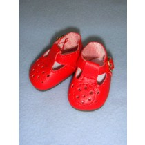"""2 1_8"""" Red Modern T-Strap Shoes"""