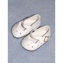 "2 1_8"" White Girls Dress Shoe"