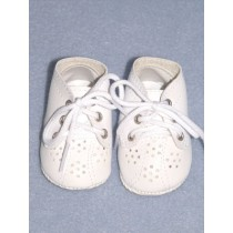 "2 1_8"" White Toddler Shoes"