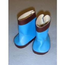 "2 3_4"" Blue & Brown Vinyl Boots"