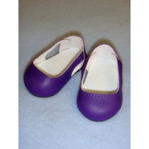"2 3_4"" Dark Purple Sleek Side Cut-Out Shoes"
