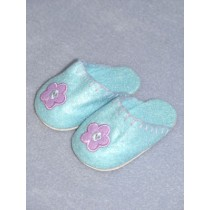 "2 3_4"" Light Blue Bedtime Slippers"