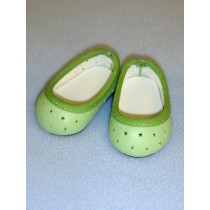 "2 3_4"" Light Green Super Star Slip-Ons"