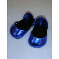 "2 3_4"" Metallic Navy Blue Sparkly Shoes"