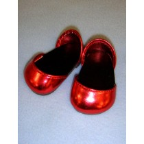 """2 3_4"""" Metallic Red Sparkly Shoes"""