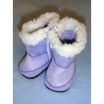 "2 3_4"" Purple Fuzzy Boots"