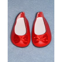 """2 3_4"""" Red Fancy Slip-On Shoes"""