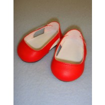 """2 3_4"""" Red Sleek Side Cut-Out Shoes"""