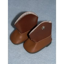 "2 3_4"" Two Tone Brown Cowboy Boot"