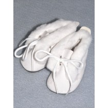 "2 3_4"" White Snow Boots"