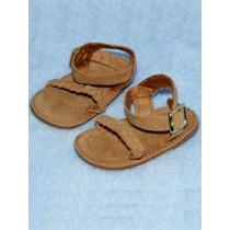 """2 5_8"""" Braided Suede Sandal - Carmel"""