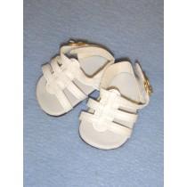 "2 5_8"" White Strappy Sandals"