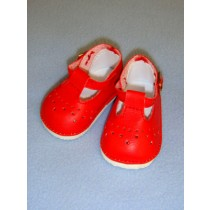"""2 7_8"""" Baby Mary Janes - Red"""