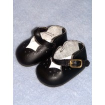 "2 7_8"" Black Girls Dress Shoe"
