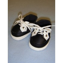 "2 7_8"" Black Sporty Vinyl Shoes"