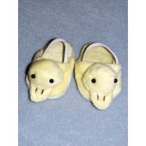 "2 7_8"" Duck Slippers for 18"" Dolls"
