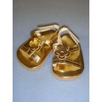 "|2 7_8"" Gold Sandals"