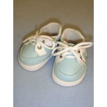 """2 7_8"""" Light Blue Sporty Vinyl Shoes"""