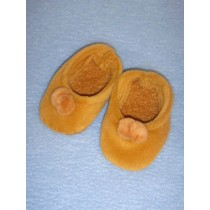 "2 7_8"" Light Brown Velour Slippers"