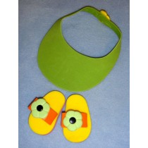 "2 7_8"" Multi-Color Foam Sandals w_Visor"