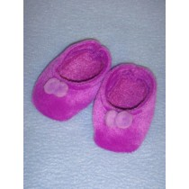 "2 7_8"" Purple Velour Slippers"