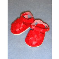 "2 7_8"" Red Fisherman's Sandals"