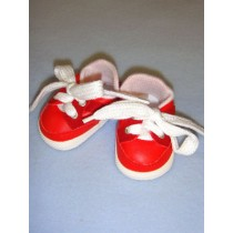 """2 7_8"""" Red_Red Suede Sporty Shoe"""